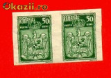 RO-104=Romania 1922 Incoronarea Pereche NDTdin valoarea de 50 bani MNH (**(
