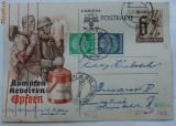 Carte postala de propaganda nazista , circulata 1940
