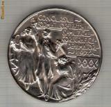 CIA 268 Medalie Concursul Formatiilor Teatrale Muzical-Coregrafice De Amatori de la Orase si Sate 1974 -dimensiuni circa 60 milimetri