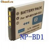 BATERIE acumulator 1200 mAh NP-BD1 NP-FD1 NP-FD1 DSC-T2 DSC-T70 DSC-T75 DSC-T200 T77 T300 T500