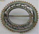 Brosa decoratie veche din argint   - de colectie (2)