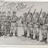 Soldati Germani Carte Postala de Propaganda Nazista WW2 - Fotografie veche
