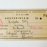 ADEVERINTA RECENSAMANT ROMANIA RPR 1948 **