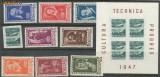 1947 ROMANIA set Institutul Romano-Sovietic serie +PA+ colita fara sarniera