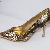 Pantofi de gala pentru femei ,aurii,  - (CHIARA 8815-8 gold)
