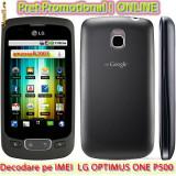 DECODARE LG OPTIMUS ONE P500 ONLINE, PE IMEI (COD DEBLOCARE) *** Trimit codul pe mail, Y, Skype etc. *** PRET PROMOTIONAL *** - Decodare telefon, Garantie