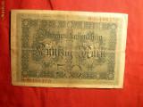Bancnota 50 Marci GERMANIA 1914 , cal.medie ,serie 6 cifre