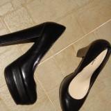 pantofi noi piele,toc si platforma inalta