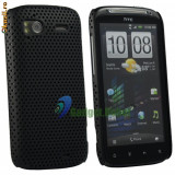 Husa neagra mesh HTC Sensation G14, Negru, Plastic