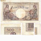 * Bancnota 500 lei 1938