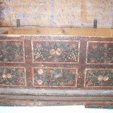 Lada de zestre pictata si datata 1889-originala
