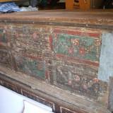 Lada de zestre saseasca pictata si datata 1822-originala