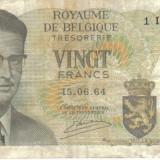 BELGIA 20 FRANCS 1964