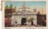 Ok-1051- Romania, Alba Iulia, c.p. circulata 1929: Poarta Mihai Viteazul,  garda, Fotografie