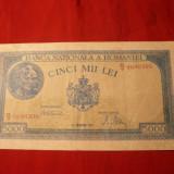 Bancnota 5000 Lei 20 dec. 1945, Mihai I, cal.Buna - Bancnota romaneasca