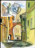 Ilustrata maxima Sighisoara - arcada casei lui Vlad Dracul