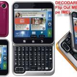 DECODARE MOTOROLA Flip Out MB511 (toate modelele noi) ONLINE, PE IMEI *** Trimit codul pe mail, Y, Skype etc. *** PRET PROMOTIONAL *** - Decodare telefon, Garantie