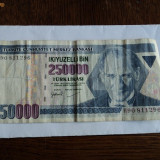 250.000 lire 1970 Turcia