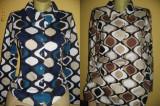 Camasa/bluza de dama, 36, M/L, Albastru, Maro, Bumbac
