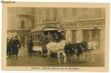 943 - BUCURESTI - Tramvai tras de cai, animata - old postcard - unused