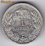 1) Ungaria Austria 1 Korona-Kronen (Coroana) 1914,argint,a.UNC, Europa