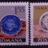 Timbre nestampilate de colectie Romania, Ceramica romaneasca, 1973, LP 832 - Timbre Romania