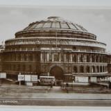 carte postala LONDON ALBERT HALL VALENTINE S   REAL PHOTOGRAPHY LONDRA ANGLIA