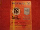Program fotbal SPORTUL - VICTORIA BUCURESTI - Optimile de finala Cupa Romaniei 27.05.1987