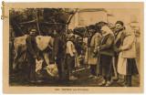 349 - ETHNIC to animal market - old postcard, CENSOR - used - 1918, Circulata, Printata