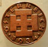 E.203 AUSTRIA 2 GROSCHEN 1934 RARA, Europa, Bronz