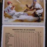Timbre Straine nestampilate, Cuba - Campionatul Mondial de baseball - 1969 - Timbre Romania
