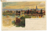 10031 - KONSTANZ, Litho, Germany, Germania - old postcard - used - 1900, Circulata, Printata