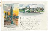 10005 - 5763 MAINZ, Dom, Lithyo, Germany, Germania - old postcard - used - 1900