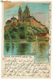 2474 - AUSTRIA, STIFT  MELK - old postcard - used - 1898, Circulata, Printata