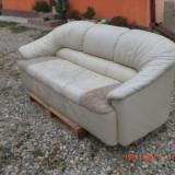 Canapea living din piele, Din piele ecologica