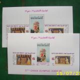 Emiratele Arabe Unite 1986   SAH  olimp.Dubai  mi  bloc 5A si 5B