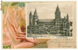 10003 - 5733 MAINZ, Dom, Litho, Germany, Germania - old postcard - used - 1900, Circulata, Printata