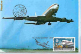 Ilustrata maxima B707 - aerofilatelie -  zbor omagial 15 ani TAROM Bucuresti - Beijing