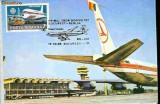 Ilustrata maxima B707- aerofilatelie - Primul Zbor TAROM Bucuresti - Berlin