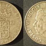 1 Krona 1966 U Suedia  Argint