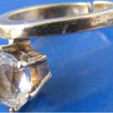 Inel vechi din argint cu piatra (26) - de colectie