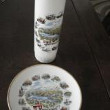 Farfurie DECO si VAZA din portelan - suvenir BODENSEE