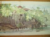 Preziosi, Planșă color dublă Dâmbovița, Bucureștii în 1869