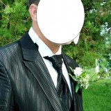 Costum mire cadou camasa - Costum barbati, 1 nasture, Normal, Negru