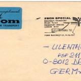 Plic filatelic - zbor special Bucuresti - Frankfurt - Dresda, Lilienthal 91