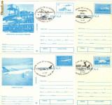 CP intreg postal aviatie - 10 CP-uri cu stampile diferite dattate 18.09.94 - TAROM - 40 de ani de la infiintare