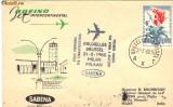 Plic aerofilatelic Primul zbor Sabena Bruxelles - Milano cu un avion cu reactie cu Boeing Jet Intercontinental