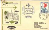 Plic aerofilatelic Primul zbor Sabena Bruxelles - Manchester cu un avion cu reactie cu Boeing Jet Intercontinental