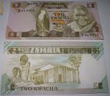 ZAMBIA  1988  -  2 KWACHA    - UNC