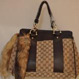 Geanta Gucci cu coada pufoasa de vulpe -super calitate ! mega discount ! cadoul perfect